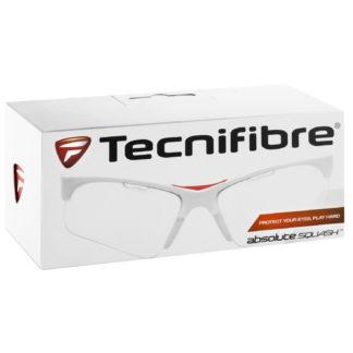 TECNIFIBRE GLASSES SQUASH WHITE/CLEAR