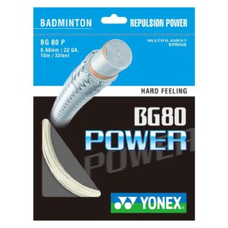YONEX STRING BADMINGTON BG80 22G 0.68MM WHITE SET