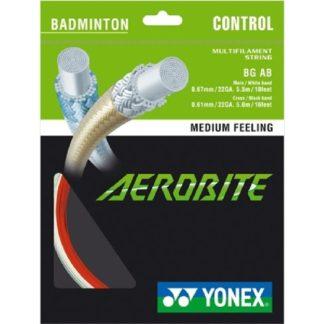 YONEX STRING BADMINGTON AEROBITE 22G WHITE/RED SET
