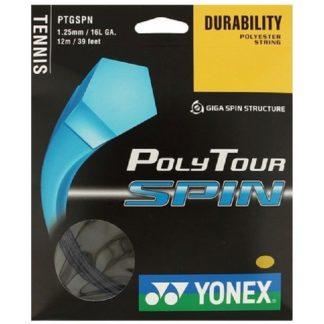 YONEX STRING POLYTOUR SPIN 1.25MM 16L BLACK SET