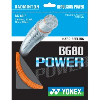 YONEX STRING BADMINGTON BG80 22G 0.68MM ORANGE SET