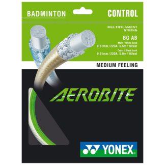 YONEX STRING BADMINGTON AEROBITE 22G WHITE/GREEN SET