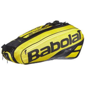 BABOLAT BAG PURE AERO 6RACKET BLACK/YELLOW (2019)