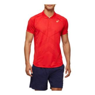 ASICS SHIRT POLO TENNIS MEN RED XL