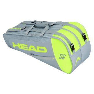 HEAD BAG CORE 6RACKET GREY/YELLOW