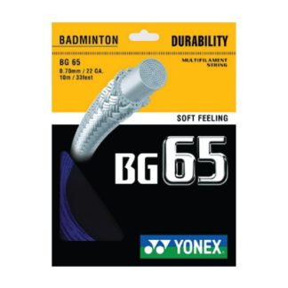 YONEX STRING BMT BG65 22G 0.70MM R/BLUE SET