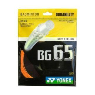 YONEX STRING BMT BG65 22G 0.70MM ORANGE SET