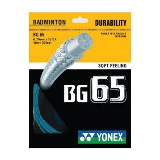 YONEX STRING BMT BG65 22G 0.70MM TURQUOISE SET