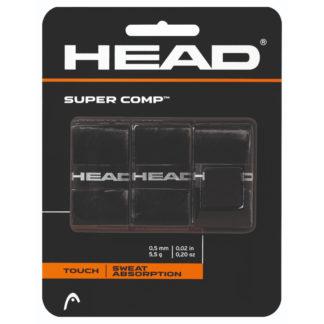 HEAD GRIP OVERGRIP SUPER COMP BLACK (3)