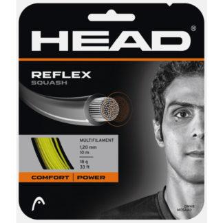 HEAD STRING REFLEX SQUASH YELLOW 18G SET