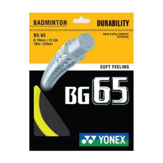 YONEX STRING BMT BG65 22G 0.70MM YELLOW SET