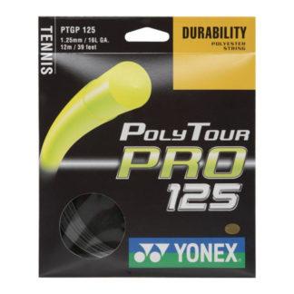 YONEX STRING POLYTOUR PRO 1.25MM 16G BLACK SET