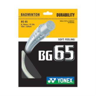 YONEX STRING BMT BG65 22G 0.70MM WHITE SET