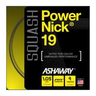 ASHAWAY STRING SQUASH POWERNICK 19G 1.05MM BLACK SET