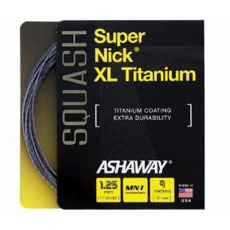 ASHAWAY STRING SQUASH SUPERNICK XL TITANIUM 17G 1.25MM SET