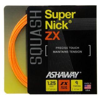 ASHAWAY STRING SQUASH SUPERNICK ZX 17G 1.25MM ORANGE SET
